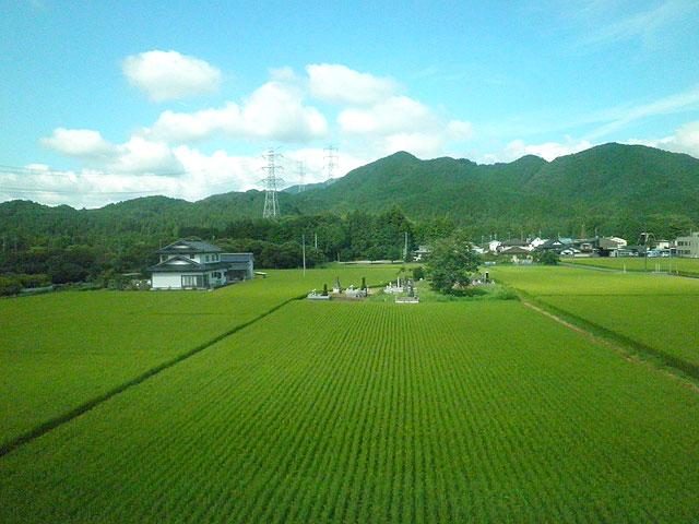電車からの風景
